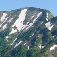 奥大日の稜線